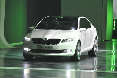 Vision D concept is likely to end up as Skoda's new Octavia, showing the company's new design direction