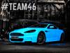 Glow-in-the-dark Aston Martin DBS set for Gumball3000