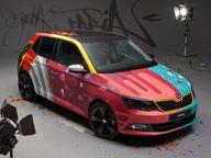 Car News - Skoda News - Graffiti artist tags Skoda Fabia