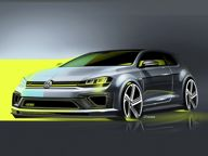 Volkswagen news - VW teases Golf R 400 Concept ahead of Beijing debut